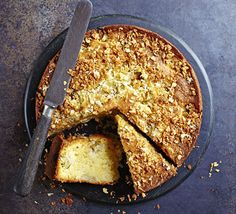 Gooseberry coconut cake. Creamy coconut complements tart fruit really well. The gooseberries disappear into the cake batter keeping the sponge extra moist