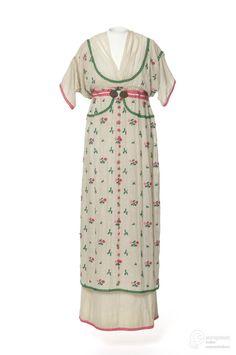 """""""Fleurie"""" Embroidered Cotton Dress, 1912Paul Poiretvie Les Arts Decoratifs"""
