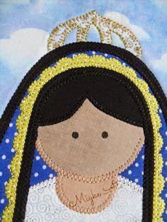 Nossa Senhora Aparecida em Tecido - Patchapliquê