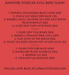 Fit2Flex full body slam workout