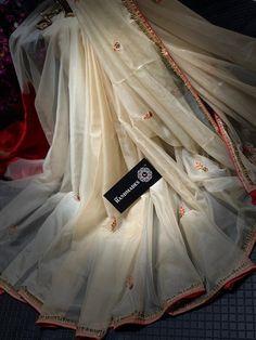 Elegant Fashion Wear, Trendy Fashion, Stone Work Blouse, Gota Patti Saree, Organza Saree, Work Sarees, Embroidery Designs, Brides, Fancy