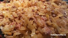 Eat Your City: Lazy cabbage rolls recipe - quick version of the tasty traditional Ukrainian yumminess! Lazy Cabbage Rolls, Cabbage Rolls Recipe, Cabbage And Bacon, Cabbage Leaves, Low Sodium Recipes, Bacon Recipes, Casserole Recipes, Healthy Recipes, Cabbage Roll Casserole