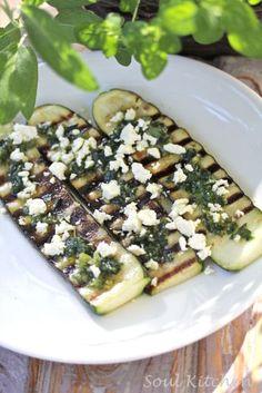 SOUL KITCHEN: Paistettua zucchinia pestolla ja fetalla
