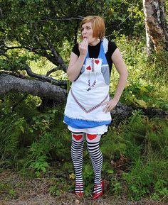 I love this fab Alice in wonderland Apron my good friend Kat made me.
