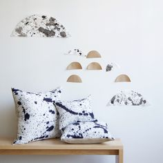 Splatter Pillow by Rebecca Atwood