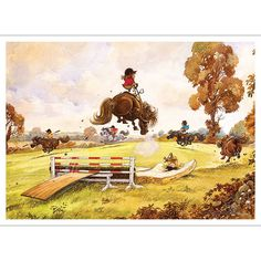 To celebrate the anniversary of the first collection of cartoons by Norman Thelwell, his Angels on Horseback are preparing to remount Horse Cartoon, Cartoon Jokes, Cartoons, Angels On Horseback, Westerns, Pony Breeds, Funny Horses, Pony Horse, Horse Quotes