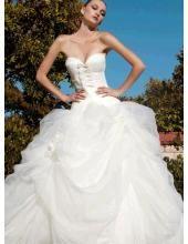 Klassisches Brautkleid aus Organza A-Linie
