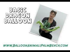 How To Make A Basic Dragon Balloon - Balloon Animals Palm Beach - YouTube