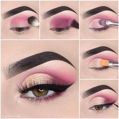 Image may contain: one or more people and closeup #DiyEyeCream Dramatic Eye Makeup, Eye Makeup Steps, Colorful Eye Makeup, Simple Eye Makeup, Makeup For Green Eyes, Natural Eye Makeup, Smokey Eye Makeup, Eyeshadow Makeup, Dramatic Eyes