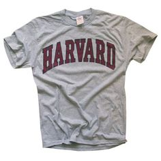 8c5c9a213 Amazon.com: Harvard University T-Shirt - Arched Block - Officially  Licensed: Clothing