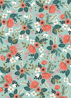 Trendy Flowers Illustration Pattern Graphics Rifle Paper Ideas - Trend Topic For You 2020 Flower Illustration Pattern, Illustration Blume, Cute Wallpapers, Wallpaper Backgrounds, Iphone Wallpaper, Vintage Floral Wallpapers, Flower Patterns, Print Patterns, Floral Pattern Print
