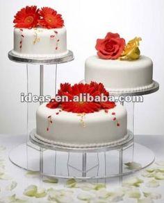 popular 2013 claro de acrílico pastel de bodas de stands