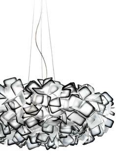 Clizia - Suspension, large - Indirect light - Opalflex® Pendant lamp by @slampSpa - Design Adriano Rachele