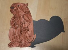 Groundhog day - shadow attached with brad and several other crafts