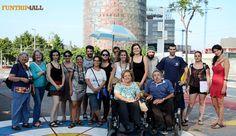 ¡Nuestros viajeros #Funtrip4all de la #experiencia 'Lugares de frontera en Barcelona' (julio 2015)!