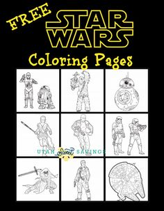 Utah Sweet Savings: Free STAR WARS: THE FORCE AWAKENS Coloring Pages and Activity Pages!