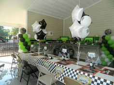 Decorations/table set up at my son's Monster Jam birthday party