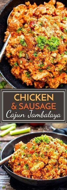 Chicken & Sausage Cajun Jambalaya