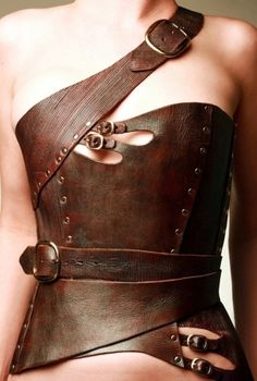 leather corset medieval by JessiLeigh
