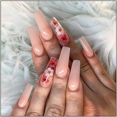 Trendy Coffin Nails Design Ideas You Will Heart - This time we collected coffin nails ideas. From Rhinestone to matte, to glitter, to lovely frui Trendy Coffin Nails Design Ideas You Will Heart - This time we collected coffin nails ideas. Peach Acrylic Nails, Summer Acrylic Nails, Cute Acrylic Nails, Acrylic Nail Designs Coffin, Summer Nails, Coffin Acrylic Nails Long, Holiday Acrylic Nails, Acrylic Gel, Pastel Nails