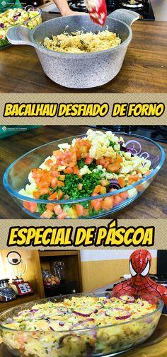 BACALHAU DESFIADO CREMOSO AO FORNO – ESPECIAL DE PÁSCOA #bacalhau #pascoa #manualdacozinha #alexgranig #sobremesa #doces #comida #culinaria #gastronomia #chef