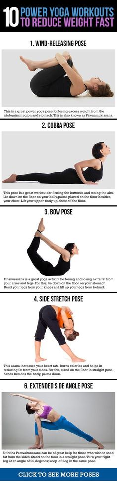 power yoga for weight loss infographic