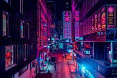 Belgian Photographer Xavier Portela Captures Asian Cities Bathed in a Neon Pink Glow Cyberpunk City, Ville Cyberpunk, Cyberpunk Aesthetic, Neon Aesthetic, Vaporwave, Memes Lindos, Neon Noir, Neon Nights, My Pool