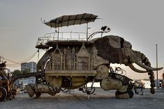45 ton mechanical Elephant created, in France, from junk.