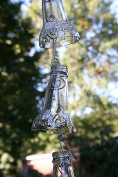glass bottle rain chain - Google Search
