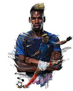 Hotel Equipe de France de Football - World Cup 2018 - Ego - AlterEgo Art Football, Football 2018, Soccer Art, Best Football Players, Soccer Players, Paul Pogba, Pogba Wallpapers, American Football, France World Cup 2018