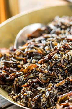 Shellie Holmes of Rhinelander, Wis., who shares her recipe here, likes to cook wild rice just until it pops open. This is a break with her family's tradition, which favored a chewier texture and did not allow popping. (Photo: Tony Cenicola/The New York Times)