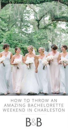 Bachelorette party, Charleston SC, Southern wedding, bridal party celebration weekend