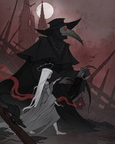 Pestilence by IrenHorrors on DeviantArt Fantasy Male, Dark Fantasy Art, Arte Horror, Horror Art, Horror Drawing, Art Sketches, Art Drawings, Arte Obscura, Creepy Art