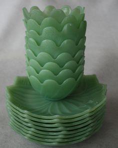 Vintage Fire King Lotus Bowls & Plates