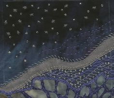 Embroidered Book- Night Sky | Flickr - Photo Sharing! Winter Sky, Winter Night, Brazilian Embroidery, Star Designs, Night Skies, Hand Embroidery, City Photo, Stitching, Stars