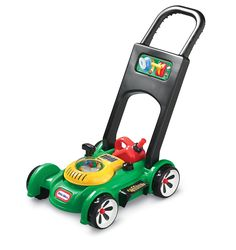 It encourages pretend play and this Little Tikes Gas 'n Go Mower will get kids up and moving around for lots of physical activity. Little Tikes lawn mower has a removable gas can. Pull cord to hear engine sounds. Little Tikes, Little Boy Toys, Toys R Us, Toys For Boys, Kids Toys, Outdoor Toys, Outdoor Fun, Outdoor Games, Outdoor Playhouses