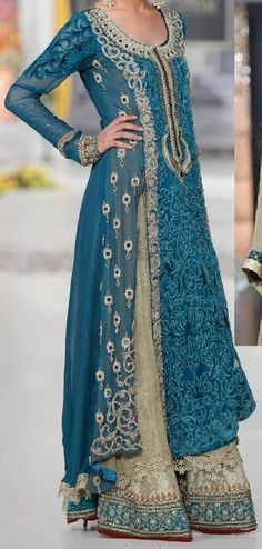Product ID: 747 A heavy formal dress tailor made for your precious occasions. To order email us at: Email: threaderpk@gmail.com Phone: 00923472076667