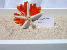 White Wedding Escort Card/ Place Card Sandbox Tray-. $65.00, via Etsy.