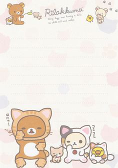 "San-X Rilakkuma ""Cat"" Memo #2 