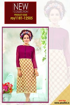 Beige and Purple #DesignerKurti Dazzle in this designer #embroideredkurti from #Amafhh. This kurti is perfect for your occasion wear, casual outings outside the house. Pair it with different bottoms, for a new look every day #womanwear #casualwear #shopping #casualoutfit #dailywear #newdesigns #onlinekurti #thechoiceisyours