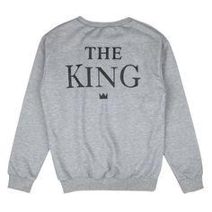 Couples Sweatshirts Print ' The KING QUEEN' Long Sleeve Hoodies Lovers Sweatshirt Pullovers ht