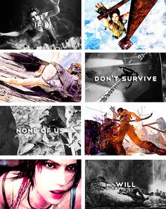 Lara Croft: If I don't survive none of us will. #tombraider