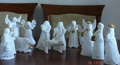 Miluše Fromelová's media content and analytics Christmas Nativity, Christmas Angels, All Things Christmas, Christmas Crafts, Christmas Decorations, Christmas Ornaments, Crochet Angel Pattern, Crochet Angels, Crochet Chart
