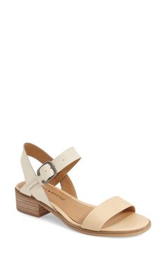 """Lucky Brand 'Toni' Stacked Heel Sandal (Women) available at #Nordstrom. Looks like a comfy shoes for doing all those """"tourist"""" things while vacationing."""