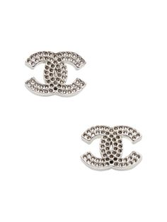 Chanel Cc Stud Earrings From Vintage Jewelry Watches On Gilt