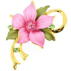 Pink Poinsettia Christmas Star Flower Swarovski Crystal Pin Brooch and Pendant Fantasyard. $15.59. Other color available. Gift box available for an additional fee. Please check out through gift-wrap option. Exquisitely detailed designer style