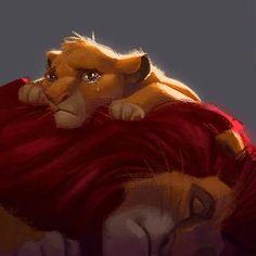 Simba e Mufasa Lion King 1, Lion King Fan Art, Lion King Movie, King Art, Simba Disney, Disney Lion King, Disney And Dreamworks, Disney Fan Art, Le Roi Lion Film