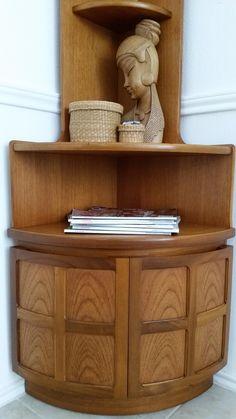 HEYWOOD WAKEFIELD Vtg Mid Century Danish Modern Corner Display Cabinet  Bookcase | Corner Display Cabinet, Display Cabinets And Wakefield