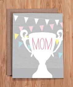 mom card / the best by ModernPrintedMatter on Etsy
