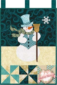 Little Blessings - Mr. Snowman Laser Cut Kit: Little Blessings Wallhanging Club available here - receive all 12 kits and get free shipping! Let the Little Blessings bring you cheer all year long!  Jennifer Bosworth of Shabby Fabrics has created this wallhanging series using some of her favorite designs from previous quilts as well as …